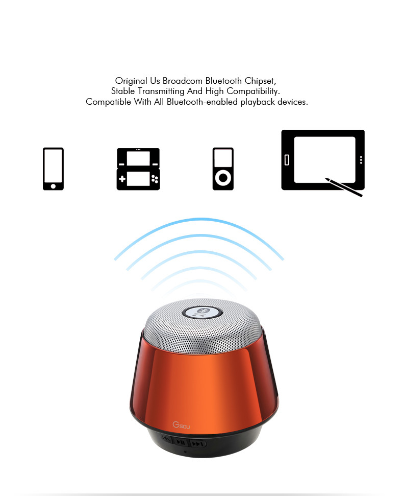 Gsou U180 portable Bluetooth speaker Features